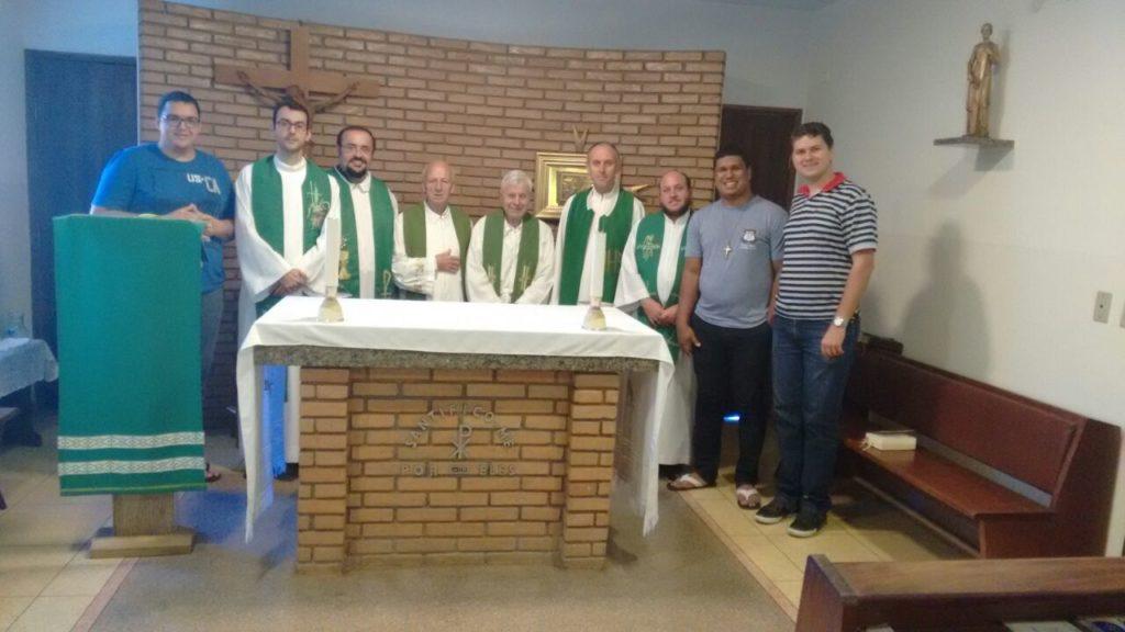 José Carlos, Pe. Raphael, Pe. José Antonio, Pe. Angelo, Pe. Pio, Pe. Carlos, Pe. Adenilson, Pedro Paulo, Ir. Cláudio